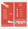 modern colorful menu vector image