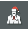 businessman in Santa Clause hat vector image