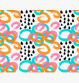 abstract green orange and pink marker circles vector image vector image