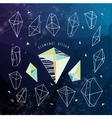 Abstract polygonal backgroun Low poly crystal vector image vector image