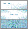 Abstract square mosaic banner design template set vector image