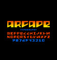 arcade game style font