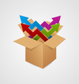 Box with arrow Business concept vector image