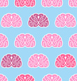 Brains seamless pattern Background of organs of vector image vector image