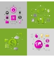 business sticker infographic vector image