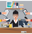 Businesswoman at Work Shocked Woman Business Lady vector image vector image