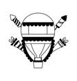 carnival hot air balloon vector image vector image