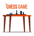 chess game figures on the table pieces vector image vector image