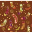 Christmas stocking seamless pattern vector | Price: 1 Credit (USD $1)
