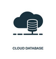 cloud database icon monochrome style design from vector image vector image