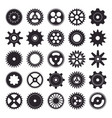 cogwheel silhouette icons set isolated on white vector image vector image