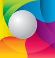 color background with ball vector image vector image