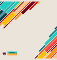colorful of abstract simple lines geometric vector image vector image