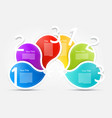colorful paper shapes infographic layout with vector image vector image