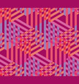concept pink seamless geometry pattern vector image vector image