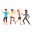 dancing people set holiday vacation party vector image vector image