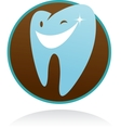dental clinic icon - smile tooth vector image vector image