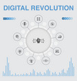 digital revolution infographic with icons vector image vector image