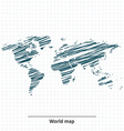 Doodle sketch of World map vector image