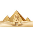 egypt pyramid and sphinx landmark realistic vector image
