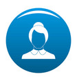 female user icon blue vector image vector image