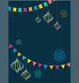 fiesta banner and poster design with flags vector image vector image