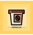 flat coffee icon vector image vector image