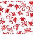 floral pattern ornamental flower seamless vector image vector image