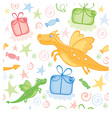 funny wrapping with dragon vector image