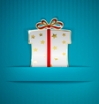 Gift box cut from paper vector image vector image
