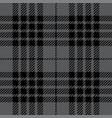 grey tartan plaid seamless pattern vector image vector image