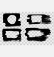 grunge stencil frames painted frame ink splatter vector image