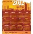 grunge urban calendar 2012 vector image vector image