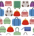 Hand bags Seamless pattern on white background vector image vector image