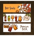 Horizontal beer banners vector image vector image