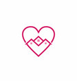 house in love sign shape logo vector image