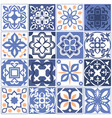 house mexican tiling seamless patterns spain vector image vector image