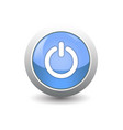 icon power on button isolated on white background vector image