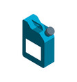 isometric canister vector image
