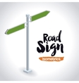 isometrics road sign design vector image