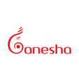 letter g ganesha logo design vector image
