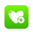 like icon green vector image