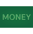 Money word and currency symbol inside vector image vector image