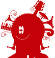 music monster vector image vector image