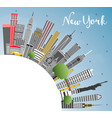 new york usa city skyline with gray skyscrapers vector image