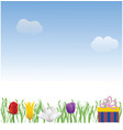 nice day background vector image vector image