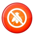 No fly sign icon flat style vector image vector image