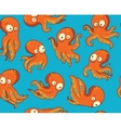 Octopuses in cartoon seamless pattern