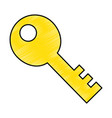 old key isolated icon vector image vector image
