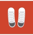 pair of white shoes vector image vector image